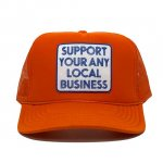 ANYTHING GOODIES <br>″ SUPPORT YOUR ANY LOCAL BUSINESS CAP ″ <br>(ORANGE) <img class='new_mark_img2' src='https://img.shop-pro.jp/img/new/icons6.gif' style='border:none;display:inline;margin:0px;padding:0px;width:auto;' />