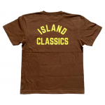 ANYTHING GOODIES × LIFE<br>″ ISLAND CLASSICS TEE ″ <BR>(BROWN×YELLOW)<img class='new_mark_img2' src='https://img.shop-pro.jp/img/new/icons6.gif' style='border:none;display:inline;margin:0px;padding:0px;width:auto;' />