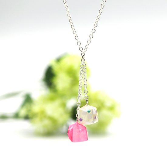 Balloon ネックレス #01  pink & sakura