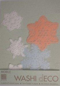 スノーフレーク(モビール)#601 5枚の雪