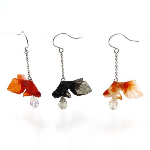 金魚(有澤悠河)ピアス #01 赤