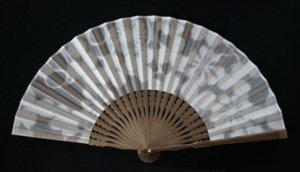 透かし和紙の扇子 クローバー
