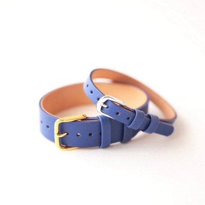 革ベルト No.4 ブルー