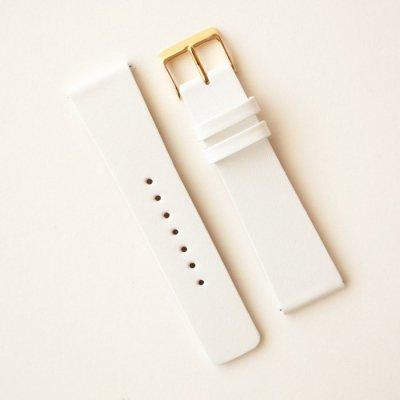 スクエアタイプ専用革ベルト No.15 ホワイト