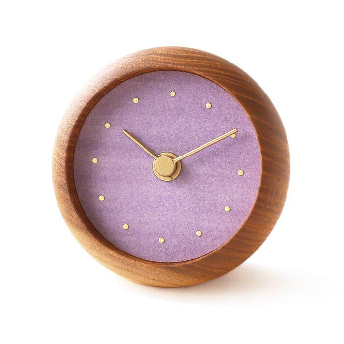 はなもっこ 置時計 藤紫