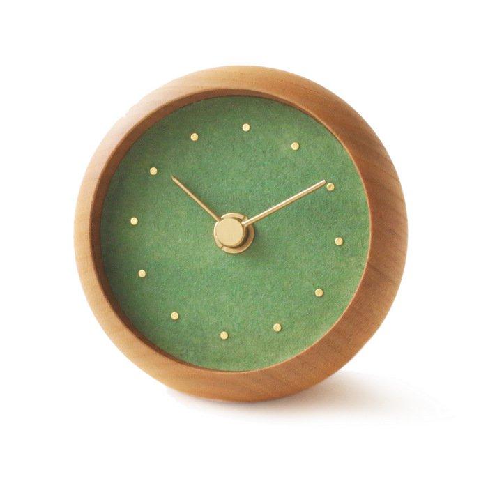 はなもっこ 置時計 緑瑪瑙(みどりめのう)