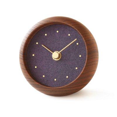 はなもっこ 置時計 古代紫