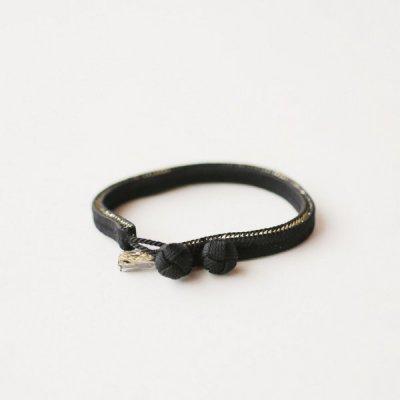 くみひもベルト (黒) 7mm幅