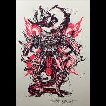「demon」アントワーヌ・ベルナートシルクスクリーンポスター