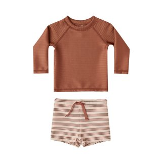 Striped rashguard boy set 12M-3Y