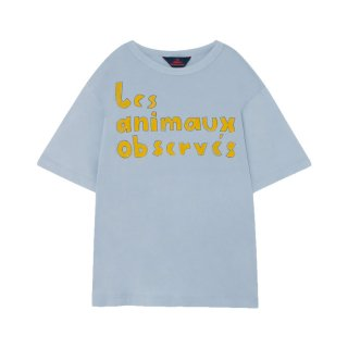 Rooster oversize t-shirt blue 2Y-4Y
