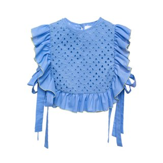 Embroidered Blouse Lupina blue 4-5Y