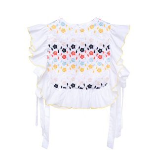 Embroidered Blouse Lupina white 4-5Y