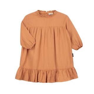 Louis ruffle dress canyon clay 2-8Y