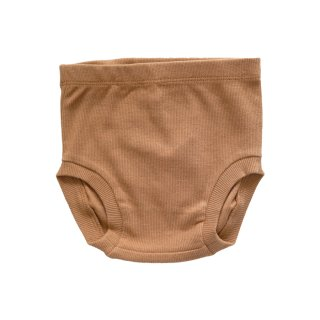 【Last One! 6-12m】Ribbed Bloomer Ocre