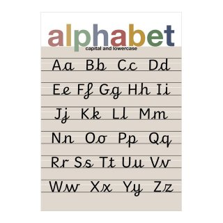 Alphabet Muted Children's Print