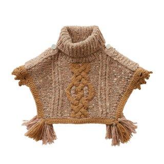 Handmade knit mantle Pink