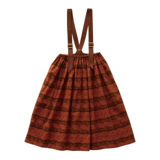 Castle printed skirt  Brick red 90-130