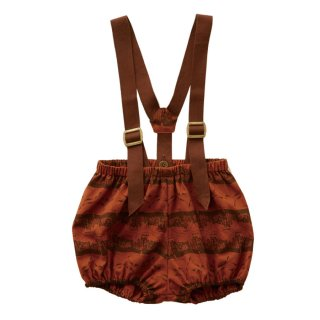 【Last one! 80】Castle printed bloomers  Brick red