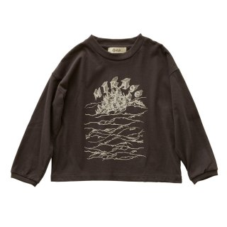 【Last one! 130】MIRAgE town long sleeve-T  charcoal