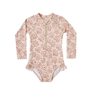 Flower outline rash guard 12M-7Y