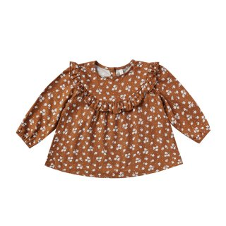 Ditsy victoria blouse 6m-24m