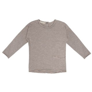 Raw edged L/S top stripes 6m-6Y