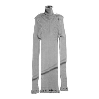 Rib turtleneck Grey melange - Women