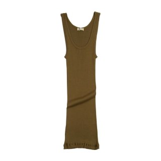 Silk rib tank top Seaweed - Women