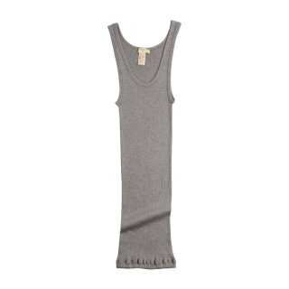 Silk rib tank top Grey melange - Women
