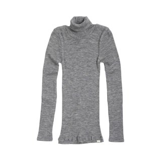 Alf Rib turtleneck Grey melange 2y-6y