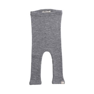 Arona wool rib leggings Grey melange 6m-3y
