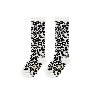 White Leopard Knee socks 1y-8y
