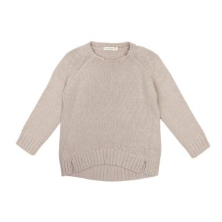 Cashmere blend sweater straw 2-6Y