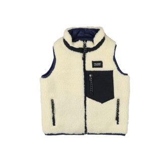 Reversible vest Navy x Ivory 100-130