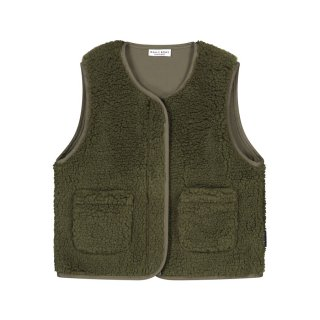 Teddy vest forest green 2Y-8Y