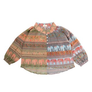 <img class='new_mark_img1' src='https://img.shop-pro.jp/img/new/icons1.gif' style='border:none;display:inline;margin:0px;padding:0px;width:auto;' />Indian Cotton Blouse - elephant  90-120