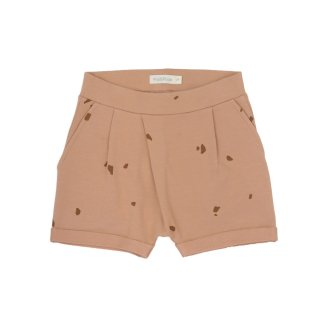 Fold-over shorts warm biscuit 18m-6Y