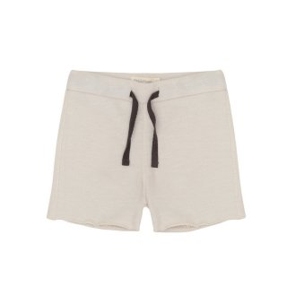 Raw-edged sweat shorts Oatmeal 18m-6Y