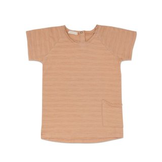 Raw edged tee peach dust 6m-6Y