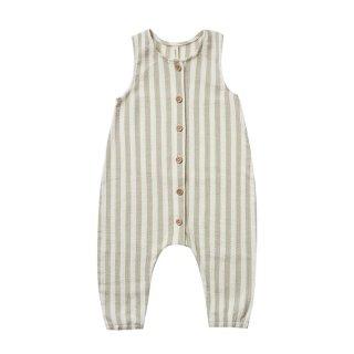 【Last one! 18-24m】Woven jumpsuit sage stripe