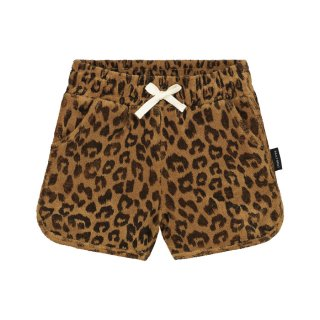 Leopard towel shorts sandstone 6m-8Y