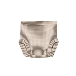 Ribbed Bloomer CHARCOAL-STRIPE 6m-24m