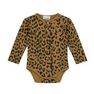 Leopard bodysuit sandstone 6M-2Y