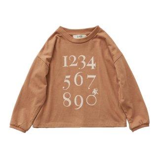 Numbering pixie LS tee milkybrown 90-130