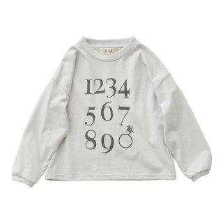 Numbering pixie LS tee ashwhite 90-130