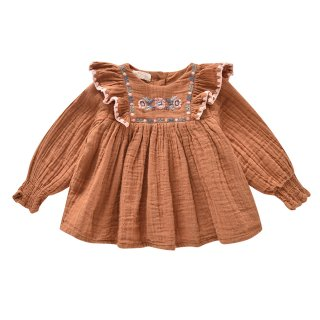 <img class='new_mark_img1' src='https://img.shop-pro.jp/img/new/icons1.gif' style='border:none;display:inline;margin:0px;padding:0px;width:auto;' />Comette Blouse Caramel 4Y-8Y