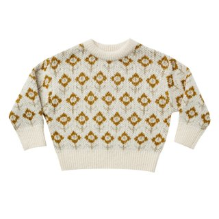 <img class='new_mark_img1' src='https://img.shop-pro.jp/img/new/icons1.gif' style='border:none;display:inline;margin:0px;padding:0px;width:auto;' />Jacquard knit pullover vintage floral 6M-7Y