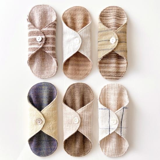 『うさと』草木染め・手織り生地使用の布ナプキン