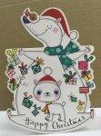 クリスマスカード  シロクマの親子